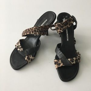 "NEW Donald J. Pliner Leopard Print 2"" Heels Sandal"